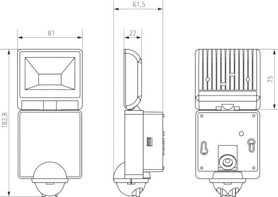 Theben Luxa 102 140 Led 8w Wh 1xspotlight Amp Sensor White
